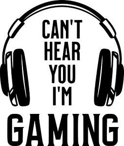 Gamer can't hear you i'm gaming vinyl wall art sticker children's bedroom