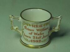 Royal Crown Derby BIRTH OF PRINCE WILLIAM Miniature Loving Cup