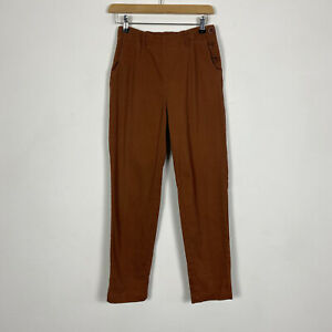 Seasalt Brown Burnt Orange Waterdance Trousers Ankle Grazer Size 8 UK