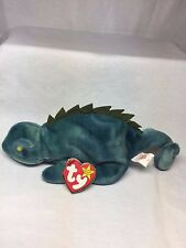 Retired TY Beanie Baby - Iggy The Iguana - Typo Error on Swing Tag - # Stamp
