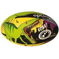 Optimum Sport Hand Stitched Rubber Outer Balanced Weight Dino City Rugby Ball