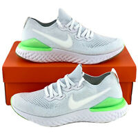 Nike Epic React Flyknit 2 Lime Blast Men's Sneakers Shoes White Green BQ8928 100