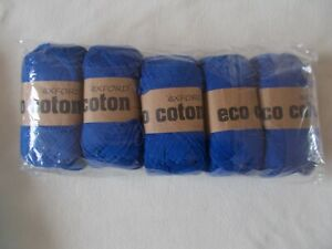 "Knitting Cotton ""Royal Blue "" 5 Balls x 100Grms New & Banded"