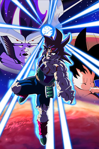 Dragon Ball Z Poster Bardock Last Attack 12inx18inches Free Shipping