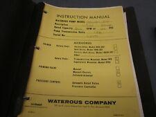 Waterous Pump Manual Cmwbx 500