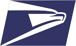 US Post Office Mail Carrier USPS Logo Eagle Color Vinyl Decal - You Pick Size
