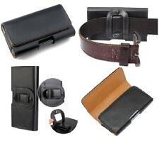For Google Nexus 4 5 Black Leather Tradesman Belt Clip Pouch Loop Holster Case