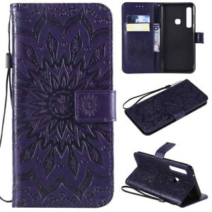For Samsung Galaxy J7 Refine/Crown/Star/J7V Leather Wallet Holder Case Cover
