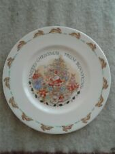Royal Doulton Merry Christmas From Bunnykins Plate 8""