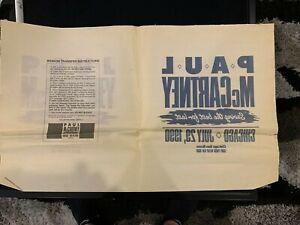 Paul McCartney Iron On Transfer 1990 Chicago Sun-Times