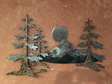 Dour Fir Forest metal wall hanging sculpture with Mt Hood mountian Pine Tree