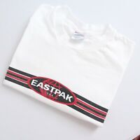 Vintage Eastpak Backpack Logo Heavyweight T Shirt 90s Made In USA Size Large T1