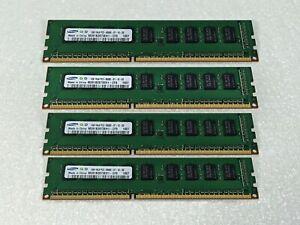 Samsung M391B2873EH1-CF8 4GB (4x1GB) Kit DDR3-1066 PC3-8500E Server Memory RAM