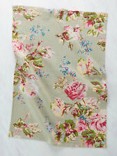 April Cornell Tea Towel Victorian Rose Collection Sage NWT 100% Cotton Floral
