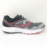 Saucony Womens Grid Cohesion 10 S15333-14 Gray Black Running Shoes Size 7.5