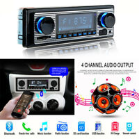 Car Stereo Radio Bluetooth In-dash Head Unit MP3 Player USB/SD/AUX & Remote 12V