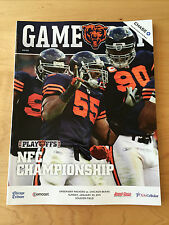 2010 Green Bay Packers @ Chicago Bears NFC Championship Program NEW/NM-MINT