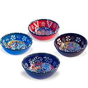 8Cm Small Ceramic Bowls Set of 4 for Snack,Tapas, Dessert, Nuts, Olive,Soy Sauce