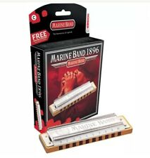 HOHNER Marine Band 1896c Stainless Steel Key of C Harmonica 3425