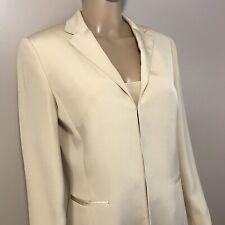 Ann Taylor Silk Size 8 Blazer and Size 12 Camisole Dressy Ivory Cream See Dscrpt