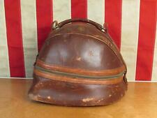 Vintage 1940s Hot Z Leather Bowling Ball Bag Single Tote Case Antique Nice Shape