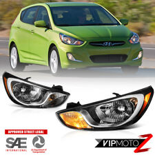 For 12-14 Hyundai Accent FACTORY STYLE Chrome Headlight Replacement Driving Lamp