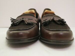Men's NWOB Bragano Dark Brown Suede & English Calf Italian Loafers Size 11 M