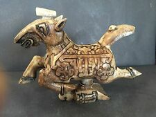 Rare galloping Jade War Horse stepping over frightened flying swallow, Zhou dyna