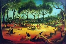 """Large hand-signed PRO HART limited edition """"Stephens Creek Picnic"""""""