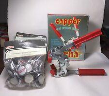 ETERNA CAPPER FOR CROWN BOTTLE CAPS-WINE-BEER-MOONSHINE-300+NEW CAPS