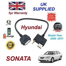 For Hyundai Sonata iPhone 3gs 4 4s iPod USB & Aux Cable Model year pre 2012