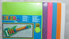 Kid's 3D Text-ure Foam Pack -Lime, Dk. Purple, Dk. Pink, Blue, Orange & White