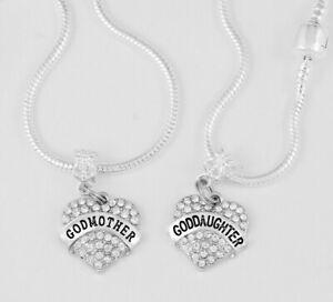 godmother goddaughter bracelet set huge sale Great gift or present ships from US