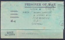 1944 Lettre US Prisonnier de Guerre Allemand Camp de Huntsville New york P2964