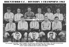 BRENTFORD F.C.TEAM PRINT 1963 - DIVISION 4 CHAMPIONS