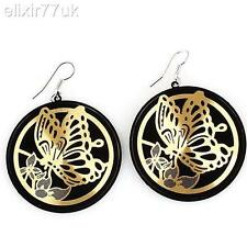 NEW BOHO STYLE BUTTERFLY FLOWERS LITHIUM EARRINGS FUNKY EARINGS ROUND SHAPE GIFT
