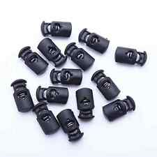 Wholesale Lot of 50 100 1000 Plastic Black Cord Locks Stoppers Toggles End