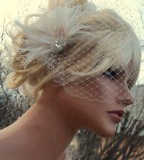 Bridal Fascinator,Bridal Veil,Wedding Veils,Feather Hair Clip,Bridal headpiece