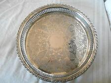 "Oneida silver round tray  13"""