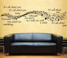 McFly It's All About You Lyrics Wall Art Vinyl Sticker Music Notes Mc Fly