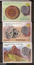 Spain  Edifil # 2493/2495 ** MNH Set  Visita de los Reyes a Hispanoamerica