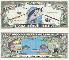 New listing Fishing Fisherman Angler Novelty Money Bill #020