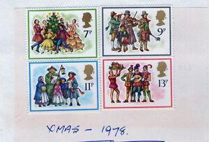 Stamp commemorative set - 1978 Christmas