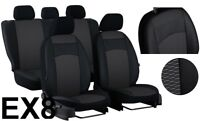 VAUXHALL CORSA D 3 Door 06-14 ECO LEATHER & FABRIC ROYAL TAILORED SEAT COVERS