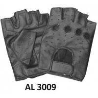 Men/'s Motorcycle Biker Training Brown Premium Buffalo Leather Fingerless gloves