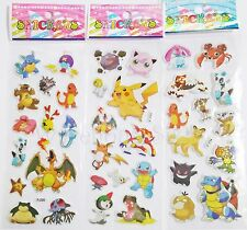 POKEMON Puffy Stickers.Lolly bag filler Birthday Party prize 'BUY 5 GET 5 FREE'