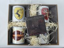 Game of Thrones Coffee Mug 4 Piece Gift Set with Coasters New in Box *