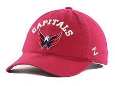 WASHINGTON CAPITALS ZEPHYR NHL CENTERPIECE TEAM LOGO SLOUCH HOCKEY CAP/HAT