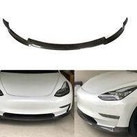 Carbon Spoilerlippe Front Lippe Spoiler Passend für Tesla Model 3 Ansatz Schwert