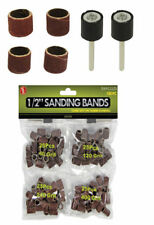 """New 102pcs Sanding Bands with 2 Rubber Mandrels of 1/2 """" x 1/2 """" # RA91212S"""